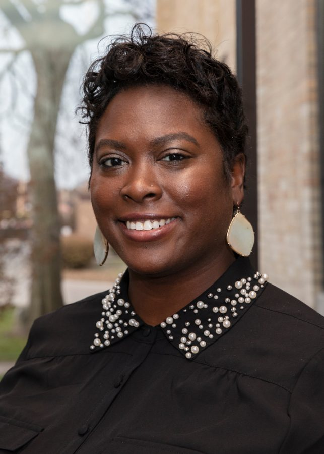 Porshé Garner, Ph.D, hosted Why Telling Our Stories if Powerful for the Black Student Union. Photo by Emily Adkins