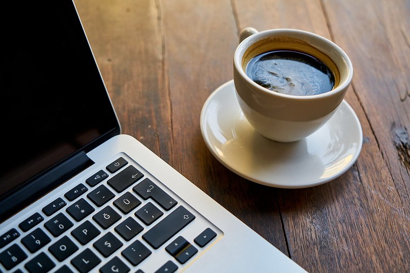 Coffee Computer Laptop workspace. Provided by https://coffee-channel.com